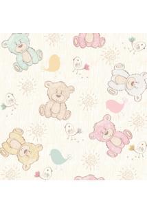 Papel De Parede Adesivo Stickdecor Baby Ursinhos Bege