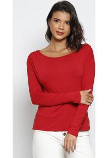 Blusa Com Recortes & ZãPeres - Vermelha & Dourada - Thipton