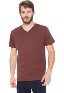 Camiseta Reserva Gola V Marrom