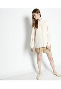 Camisa Lisa Com Botãµes- Bege Claro- Lacostelacoste
