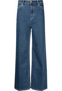 Tory Burch Calça Jeans Pantalona - Azul