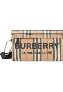 Burberry Mochila Com Estampa De Logo - Neutro