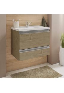 Gabinete Para Banheiro Com Cuba 1 Porta Basculante Messina Mgm Móveis Carvalho