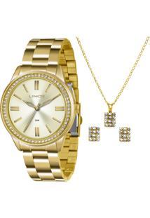 Kit Relógio Feminino Lince Lrg4341L Kt06C1Kx