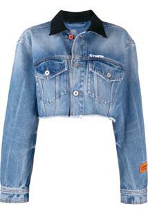 Heron Preston Vintage Wash Denim Jacket - Azul