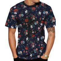 Camiseta Di Nuevo Florida Floral Várias Cores Azul 93cd3c11edf