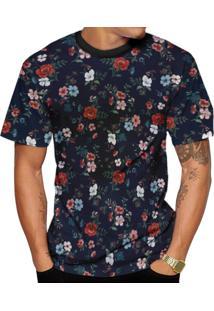 Camiseta Di Nuevo Florida Floral Várias Cores Azul