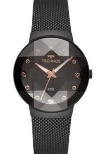 Relógio Technos Feminino Crystal - Feminino-Preto