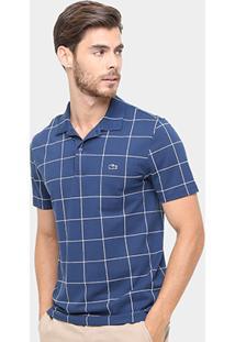 Camisa Polo Lacoste Piquet Xadrez Regular Fit Masculina - Masculino