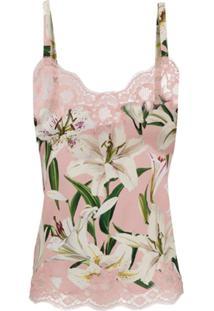 Dolce & Gabbana Blusa Com Estampa Floral - Rosa