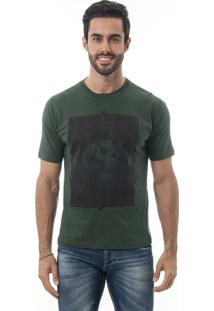 Camiseta Manga Curta Crossfire Snake Verde Escuro