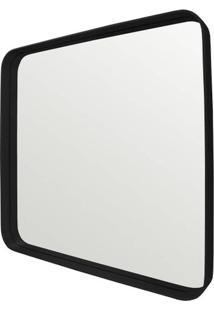 Espelho Manaus Quadrado Prata Borda Preta 75Cm - 62672 - Sun House