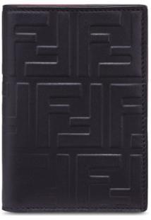 Fendi Carteira Com Logo Gravado Vertical Ff - Preto