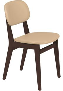 Cadeira London Tramontina 14060431 Tabaco Estofado Bege