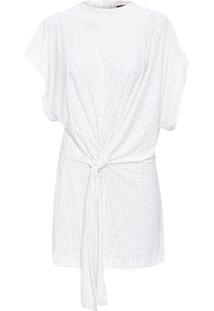 Vestido Curto Glitter - Off White