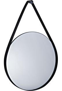Espelho Redondo- Espelhado & Preto- 57,5X40X6Cm-Mart
