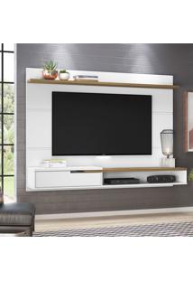 Painel Para Tv Até 50 Polegadas Balaton Branco E Freijó