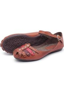 Sapatilha Feminina Top Franca Shoes - Feminino-Marrom