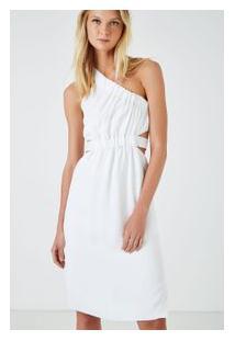 baf96e86d4 Off Premium. Vestido Ombro Só Elástico Branco Branco