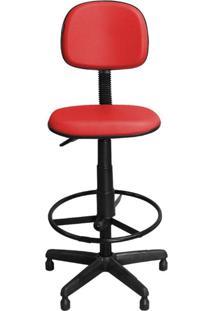 Cadeira Pethiflex Csx-02 Giratória Couro Vermelho