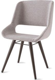 Cadeira Dife Assento Estofado Rustico Cru Base Tabaco - 55879 - Sun House