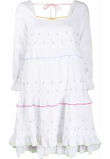 Olivia Rubin Vestido Odelia Com Bordado - Branco
