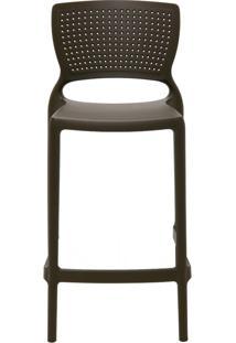 Cadeira Safira Summa Alta Em Polipropileno Marrom Tramontina