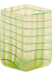 Vaso De Vidro Decorativo Ligth Green Check Pequeno