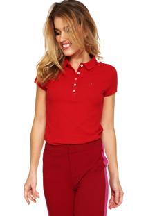 Camisa Polo Tommy Hilfiger Slim Vermelha