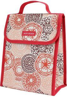 Bolsa Térmica Mandala - Salmão & Branca - 19X23X13Cmjacki Design