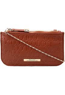 d59bc1536 Bolsa Colcci Mini Bag Tiracolo Alça Corrente Placa Feminina -  Feminino-Caramelo