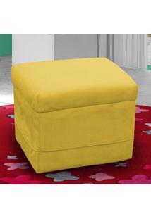 Puff Carinho 00039.0372 Amarelo/Suede Pena - Matrix