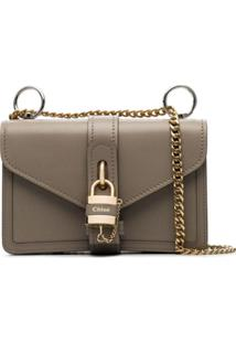 Chloé Grey Aby Lock Leather Bag - Neutro