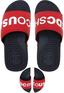 Chinelo Slide Dc Shoes Sp La Vermelho