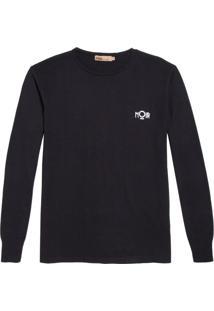 Blusa Masculina Tricot Noir Estampado (Preto, G)