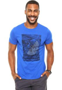 Camiseta Enfim Travel Azul