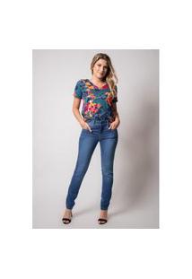 Calça Jeans Skinny Pau A Pique Básica Az