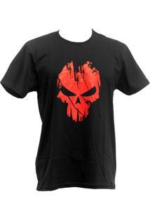 Camiseta Bravo Spectral Preta E Vermelha