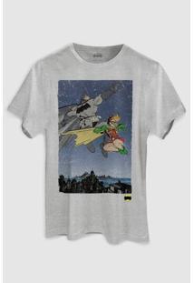 Camiseta Dc Comics Batman E Robin Bandup! - Masculino-Cinza