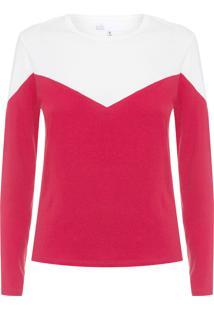 Blusa Feminina Bicolor Robert - Vermelho