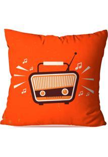 Almofada Avulsa Decorativa Rádio Retro