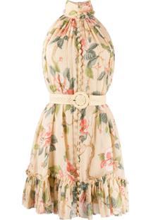 Zimmermann Vestido Floral Sem Mangas - Neutro