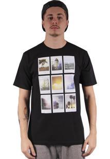 Camiseta Hurley Polaroids Preto