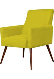 Poltrona Decorativa Lyam Decor Maria Suede Amarelo - Amarelo - Dafiti