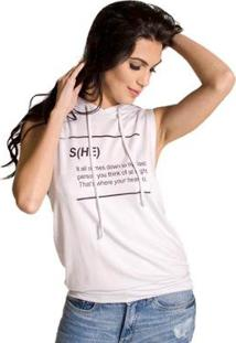 Regata Com Capuz Handbook - Feminino-Branco