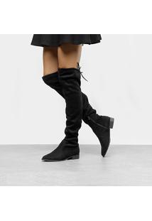 Bota Over The Knee Drezzup Amarração Feminina - Feminino