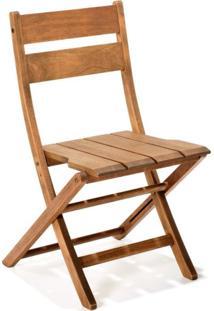 Cadeira Dobrável Sem Braços Verona Mestra Móveis Polisten Jatobá