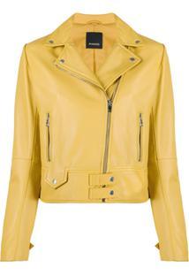 Pinko Jaqueta Biker Slim - Amarelo