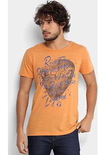Camiseta Coca-Cola Musical Palheta Masculina - Masculino-Laranja