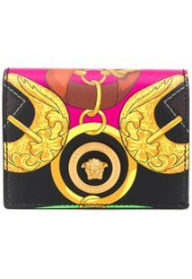 Versace Porta-Cartões Com Estampa De Cinto - Preto